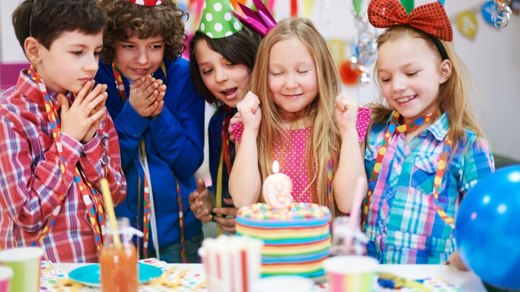 kids anticipating a birthday wish